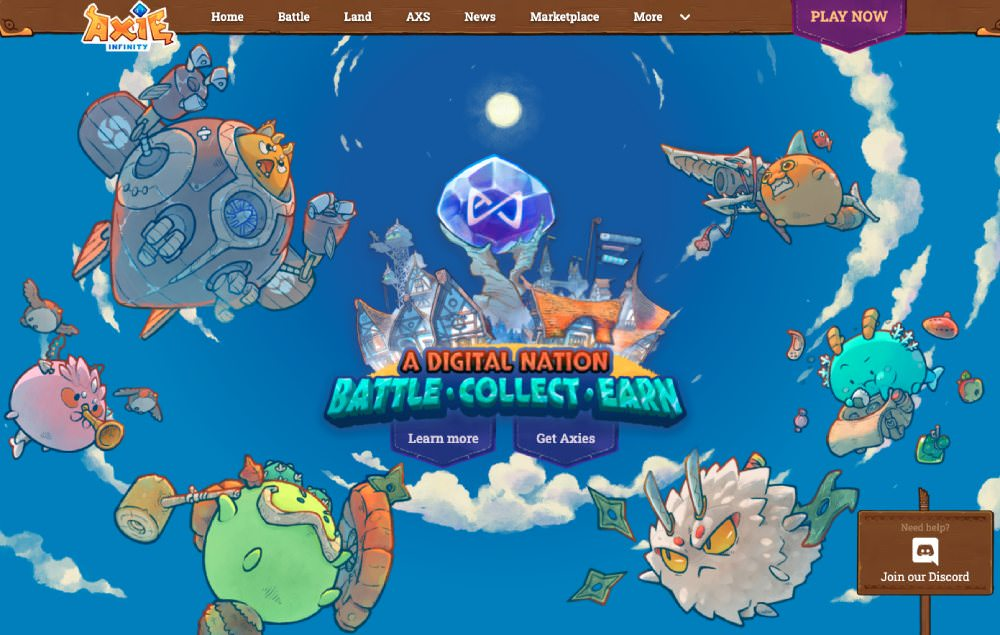 Best upcoming NFT games - Axie Infinity