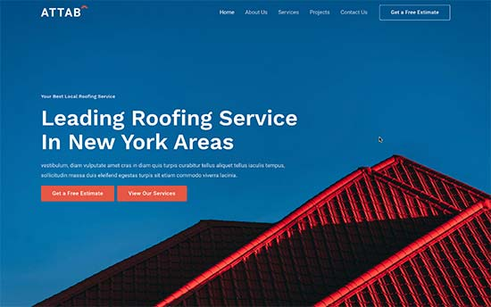Business website made with WordPress