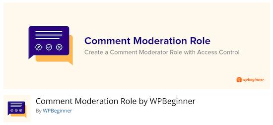 Comment Moderation Role