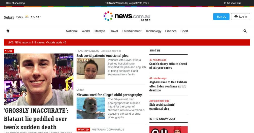 enterprise level wordpress websites example news.com.au