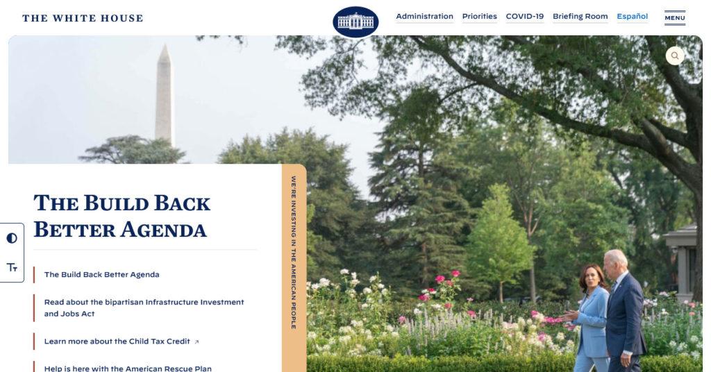enterprise level wordpress websites example the white house