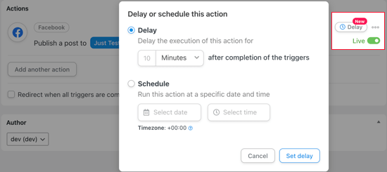 Trigger After a Time Delay or on a Specific Date and Time