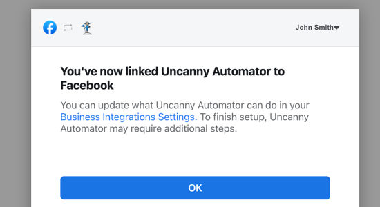 Uncanny Automator Is Now Linked to Facebook