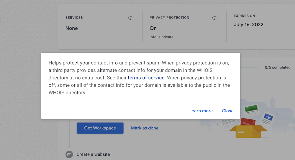 Google's Privacy Protection terms.