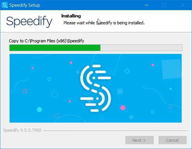 Install Speedify on Windows 10