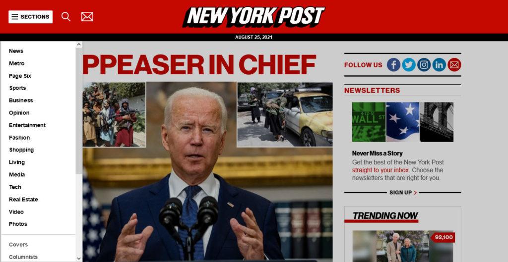 new york post sidebar menu