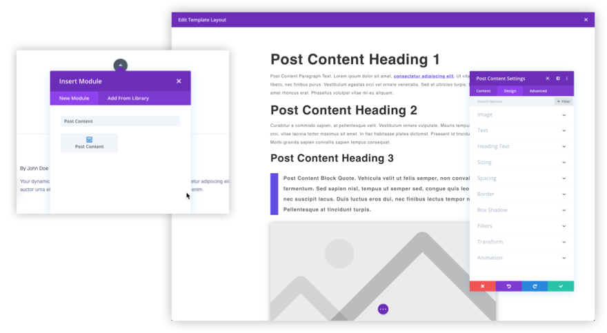post content module overview by Jason Champagne