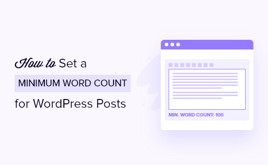 Set Minimum Word Count for WordPress Posts