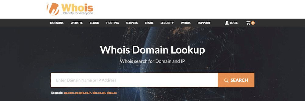 The WHOIS database.