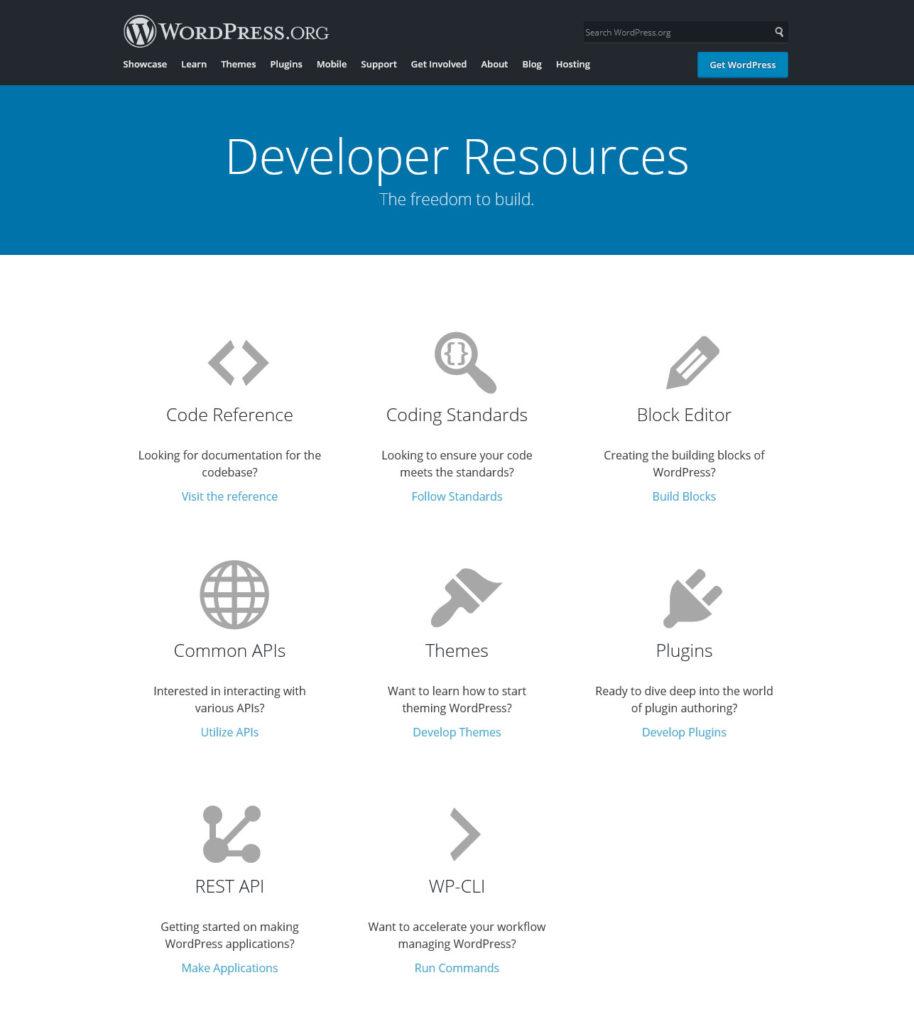 wordpress developer resources help make sure it is enterprise ready