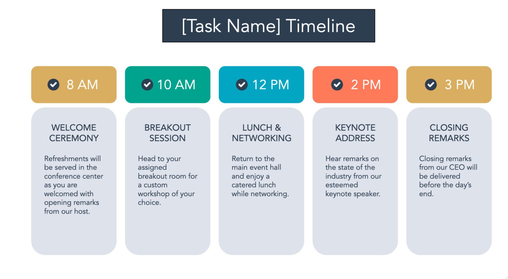 Task project timeline